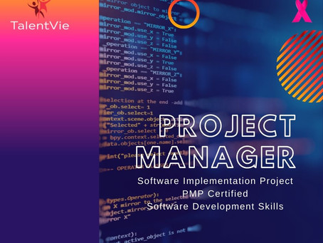 Vacancy : Project Manager (Software Implementation)