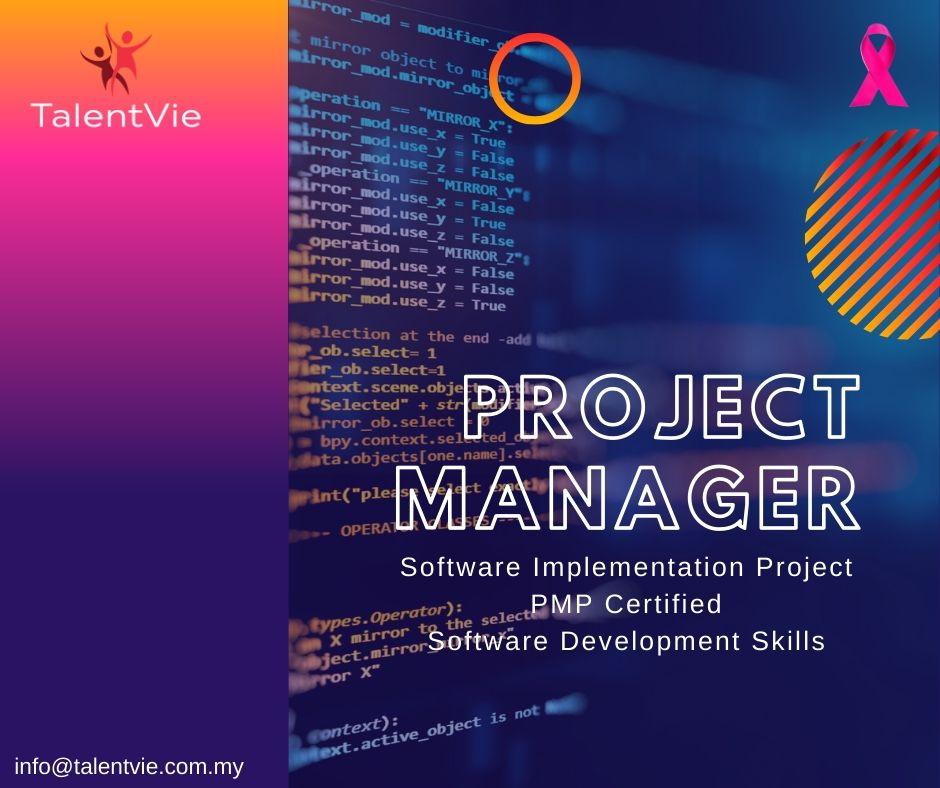 Vacancy - Project Manager (Software Implementation)