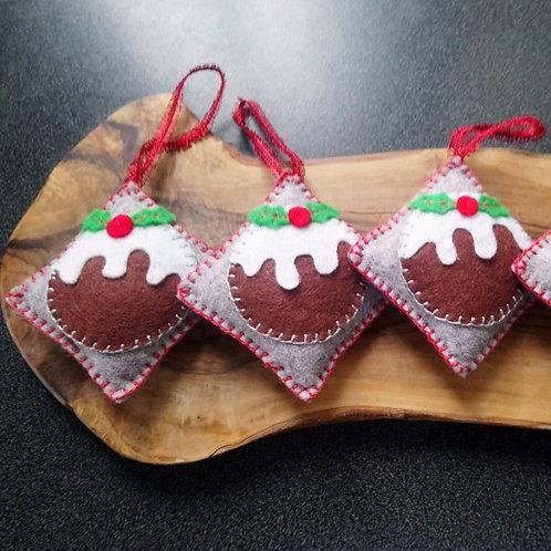 Christmas pudding decoration