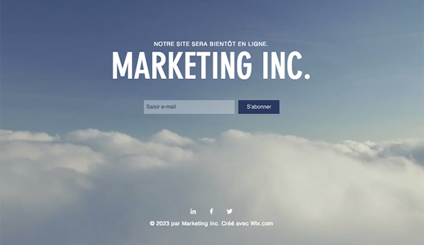 Landing Pages website templates – Page de lancement marketing