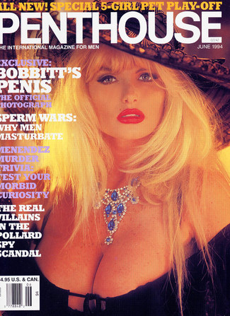 Penthouse Cover and Centerfold 94
