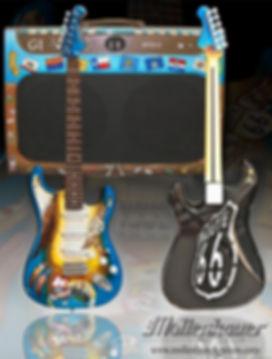 Mollenhauer Guitars custom Route 66 electric guitar & Grid 1 amp
