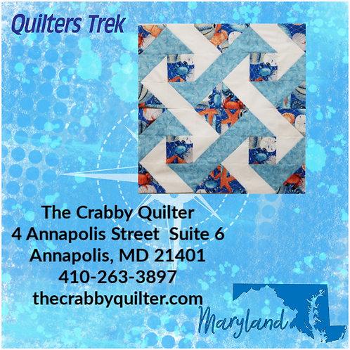 """Quilters Trex 2020 Block """"Gone Crabbin"""""""