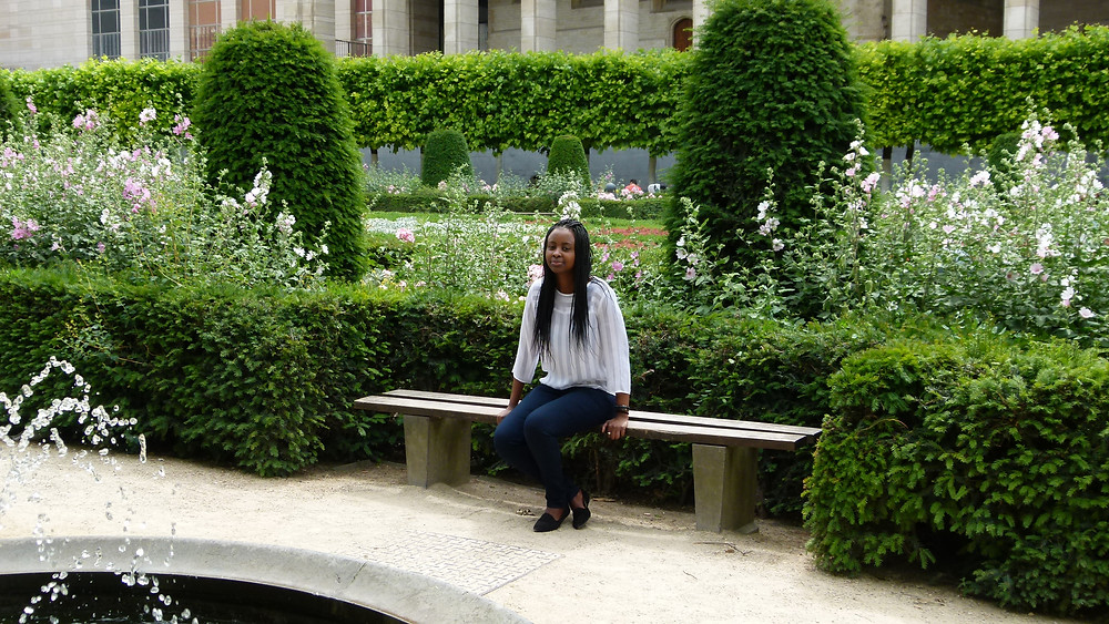 Natasha at the Mont des Arts garden in Brussels