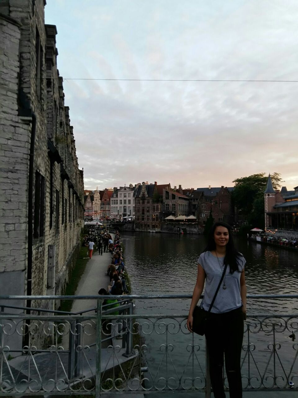 Carlynn exploring the city of Ghent