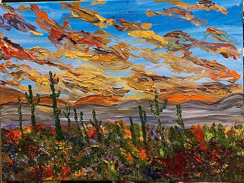 Desert Sunset - Kim Morrall