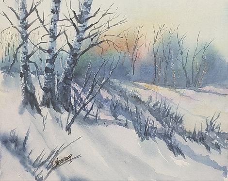 Winter Sunset - Dennis Abernethy