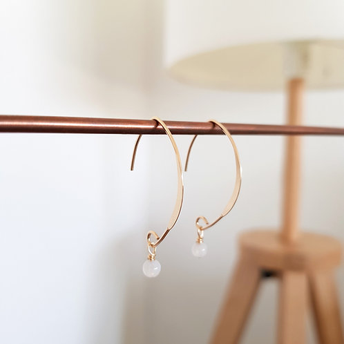 Ohrringe ◦RISE◦ strahlend, edel & ausdrucksstark 14k Gold filled mit Edelstein