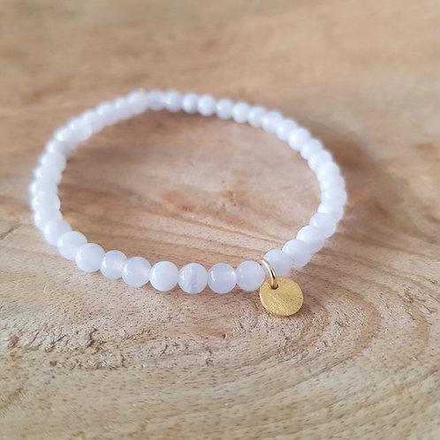 Armband Chalcedon für innere Ruhe, klare Worte und Vertrauen in dich selbst