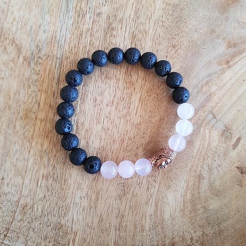 Lava Armband für Erdung, Ruhe, Selbstliebe, Dankbarkeit und Wertschätzung