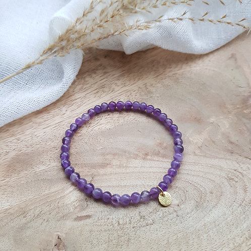 Armband Amethyst für Beruhigung des Geistes und inneren Frieden
