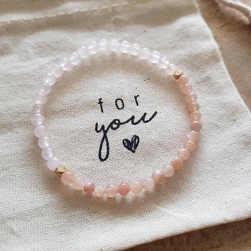 Armband für Selbstliebe, Dankbarkeit, Leichtigkeit, Lebensfreude & Licht