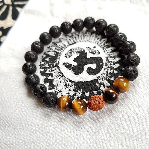 Rudraksha Armband für Erdung, Ruhe, Klarheit und Schutz vor Negativität