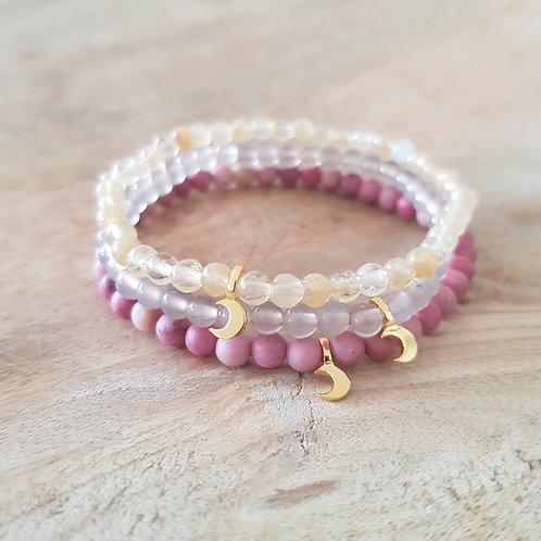 Goldenes Luna Armband: wähle deinen passenden Edelstein