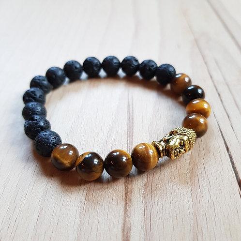 Buddha Armband für Erdung, innere Ruhe, Erschaffung, Sicherheit, Mut und Schutz