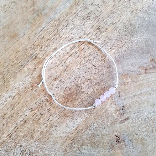 Zartes Armband Rosenquarz für liebevolle Energie, Dankbarkeit & Selbstliebe