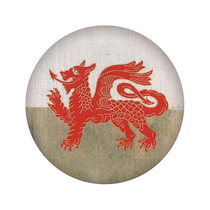 Badge / Pin - Welsh Dragon - Wales Flag x 6