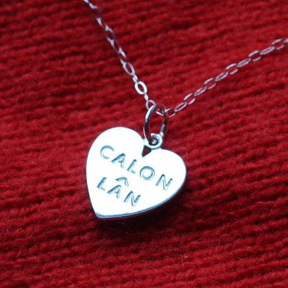 Pendant - Silver - Calon Lan - Large x 6