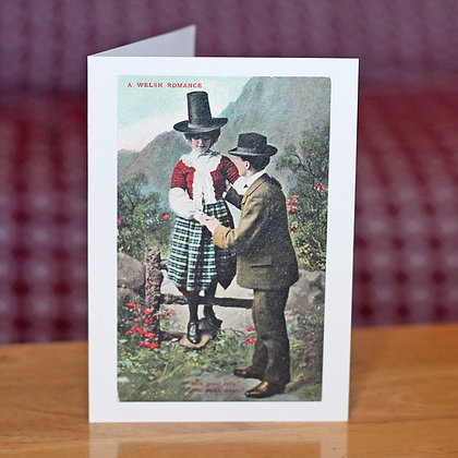 Card - Vintage - A Welsh Romance x 6