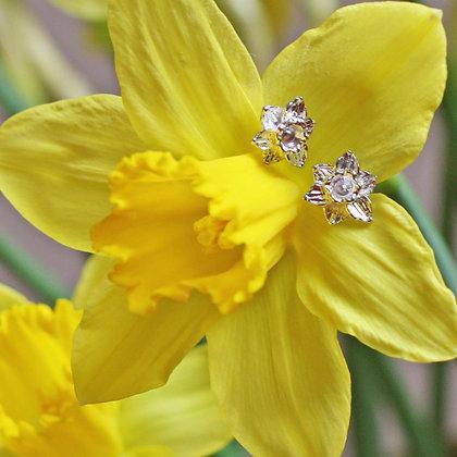 Earrings - Silver - Welsh Daffodils x 6