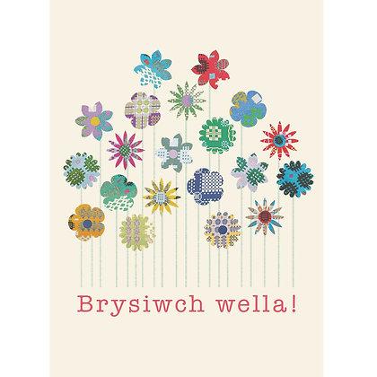 Card - Get Well Soon - Brysiwch Wella x 6