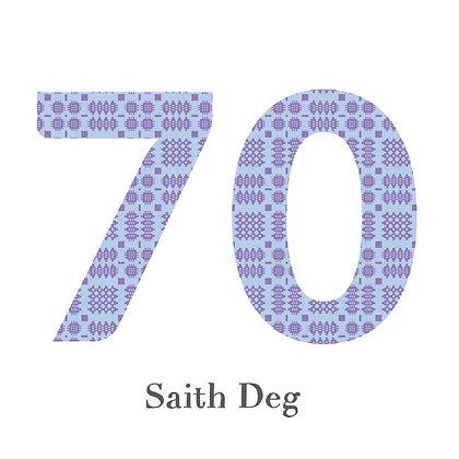 Card - Birthday / Anniversary - Saith Deg - 70 x 6