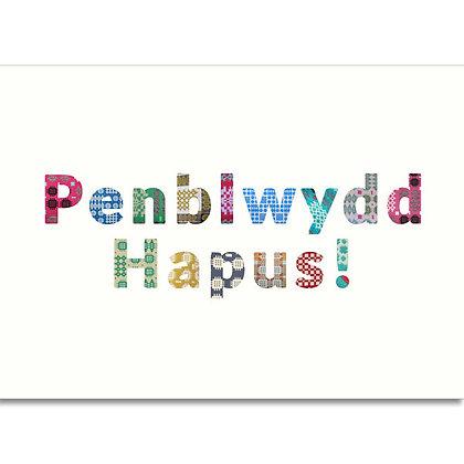 Card - Penblwydd Hapus - Happy Birthday x 6