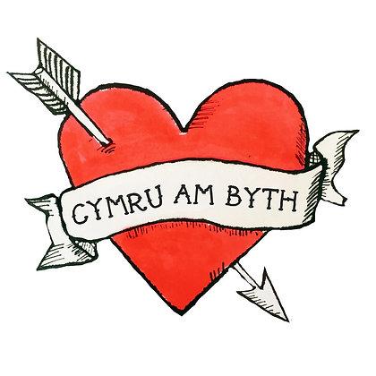 Card - Cymru am Byth - Wales Forever - St. David's Day x 6