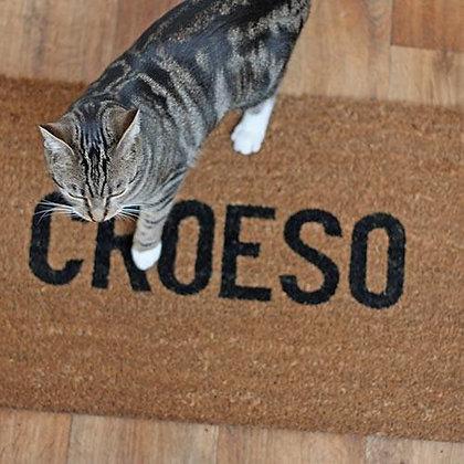 Door Mat - Welsh - Croeso - Welcome x 25