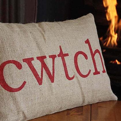 Cushion Cover - Welsh - Cwtch / Cwtsh x 6