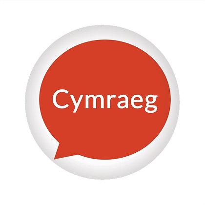 Badge / Pin - Cymraeg / Welsh Language Speaker x 6