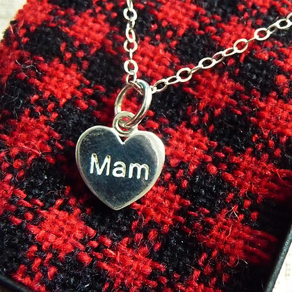 Pendant / Charm - Silver - Mother - Mam x 6