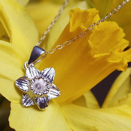 Pendant / Charm - Silver - Welsh Daffodil x 6
