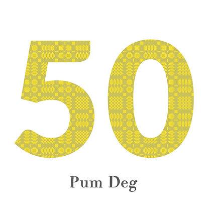 Card - Birthday / Anniversary - Pum Deg - 50 x 6