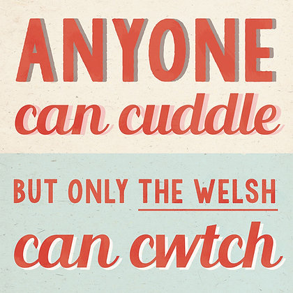 Card - Vintage - Only The Welsh Can Cwtch x6