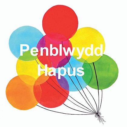 Card - Balloons - Penblwydd Hapus / Happy Birthday x6