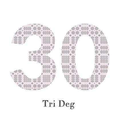 Card - Birthday / Anniversary - Tri Deg - 30 x 6