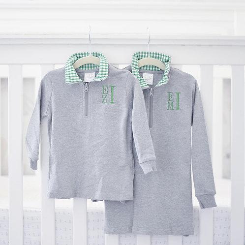 Green Quarter-zip Pullover