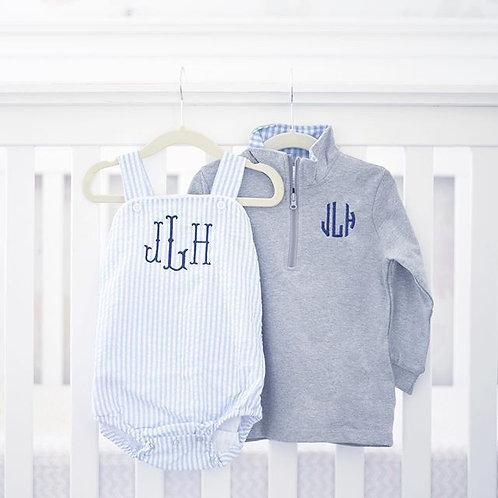 Light Blue Quarter-zip Pullover