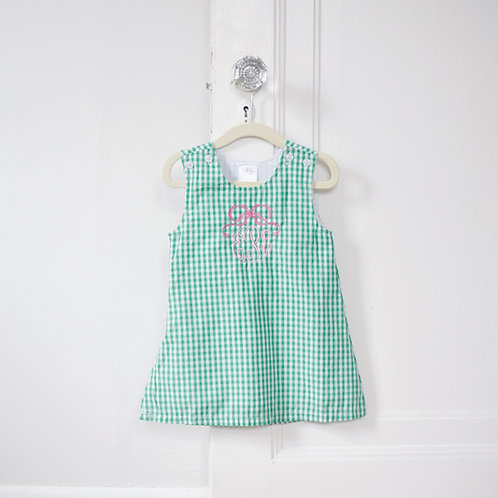 Green Gingham Jumper