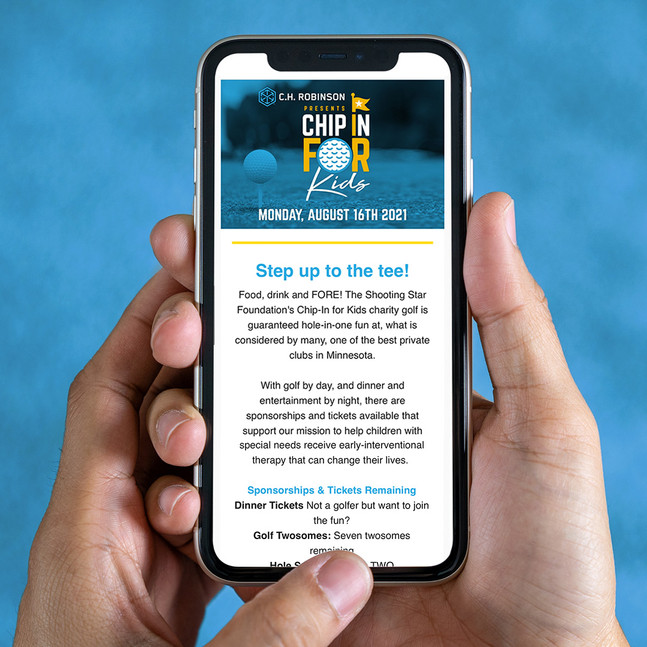 2021 Chip In For Kids Golf Event Newsletter