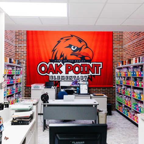 Oak Point Elementary School Environmental Branding