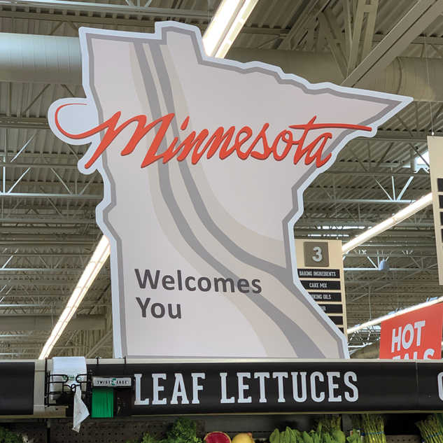 Minnesota Inspired Standees for Hyvee Grocery Stores