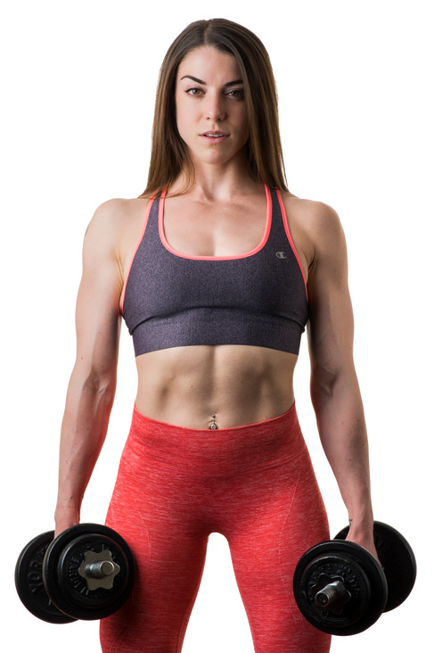 Fitness photo shoot of Chelsea Hutton of My Fit Style taken in studio.