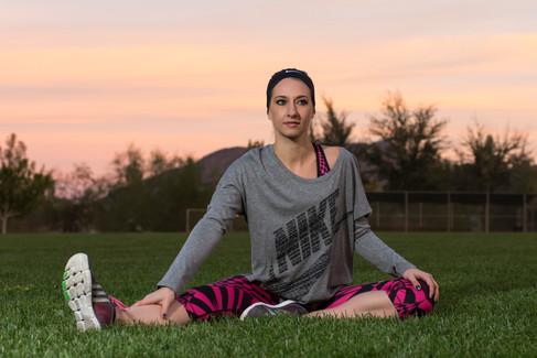 Heather Nicole Rose Nike mock fitness shoot in Henderson Nevada.