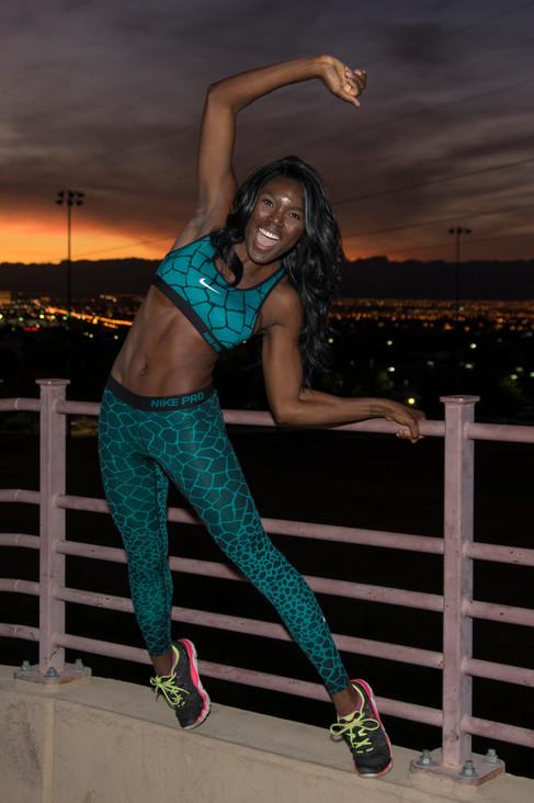Ireti Telenta in Las Vegas Nevada for her fitness photoshoot.