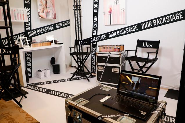 Dior Backstage Setup