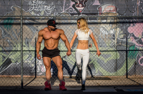 Mike and Cassandra for their couples fitness shoot.