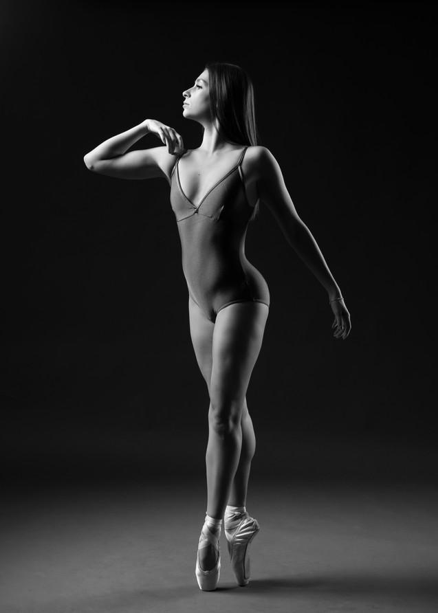 Natalia in the studio