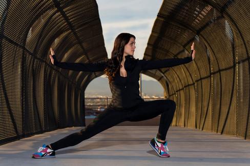Mekhaela Klimer in Las Vegas for a fitness themed photo shoot.
